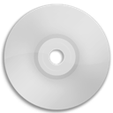 Cd, Dvd, White icon