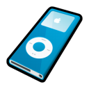 ipod, nano, mp3 player, blue icon
