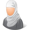 muslim, female icon