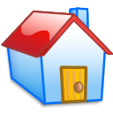 homepage, red, home, building, house icon