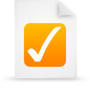 paper, document, file, orange icon