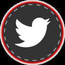 media, twitter, social, online icon
