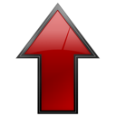 file, document, cancel, ascending, ascend, arrow, upload, no, stop, increase, close, rise, text, uplevel, red, up icon