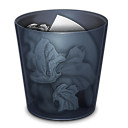 onyx, folder, full, trash, recycle bin icon