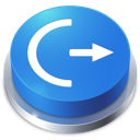 logoff, button, perspective icon