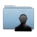 folder, people, blue, user, profile, account, human icon