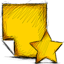 starred, note icon