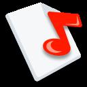 music, paper, document, file icon