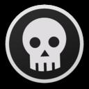 Skull bw icon