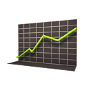 green, ascending, increase, going, up, decrease, ascend, upload, rise icon