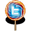 twitter, lollipop icon
