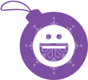 yahoo, messenger, christmas, ball icon