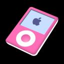 pink, ipod, nano icon