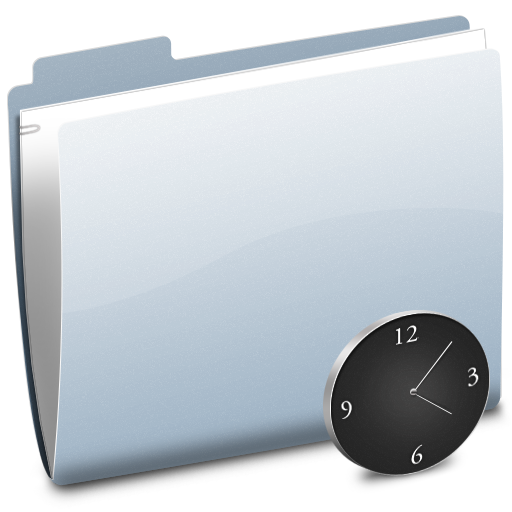 clock, folder, time, history, alarm clock, alarm icon