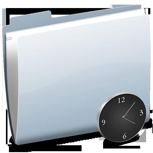 clock, folder, time, history, alarm clock, alarm icon