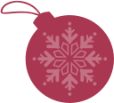 christmas, ball, dribbble icon