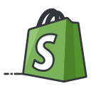 online, shopping, network, social, media, shopify icon