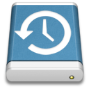Blue External Drive Backup icon