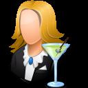 Bartender, Female, Light icon