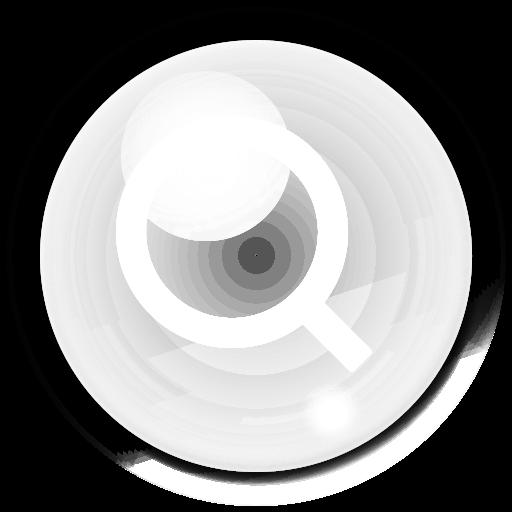 bubble, seek, search, find icon