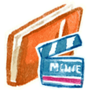 red,movie,film icon