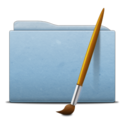 Folder Blue Art icon