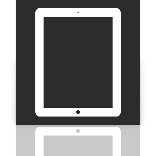 ipad, mirror icon