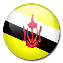 brunei, flag, country icon