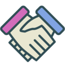 Shaking hands icon