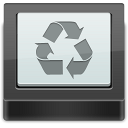 bin, recycle, empty, blank icon