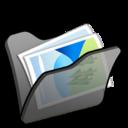 Folder black mypictures icon