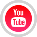 social, youtube, media, logo icon