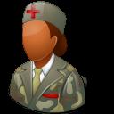female, dark, armynurse icon