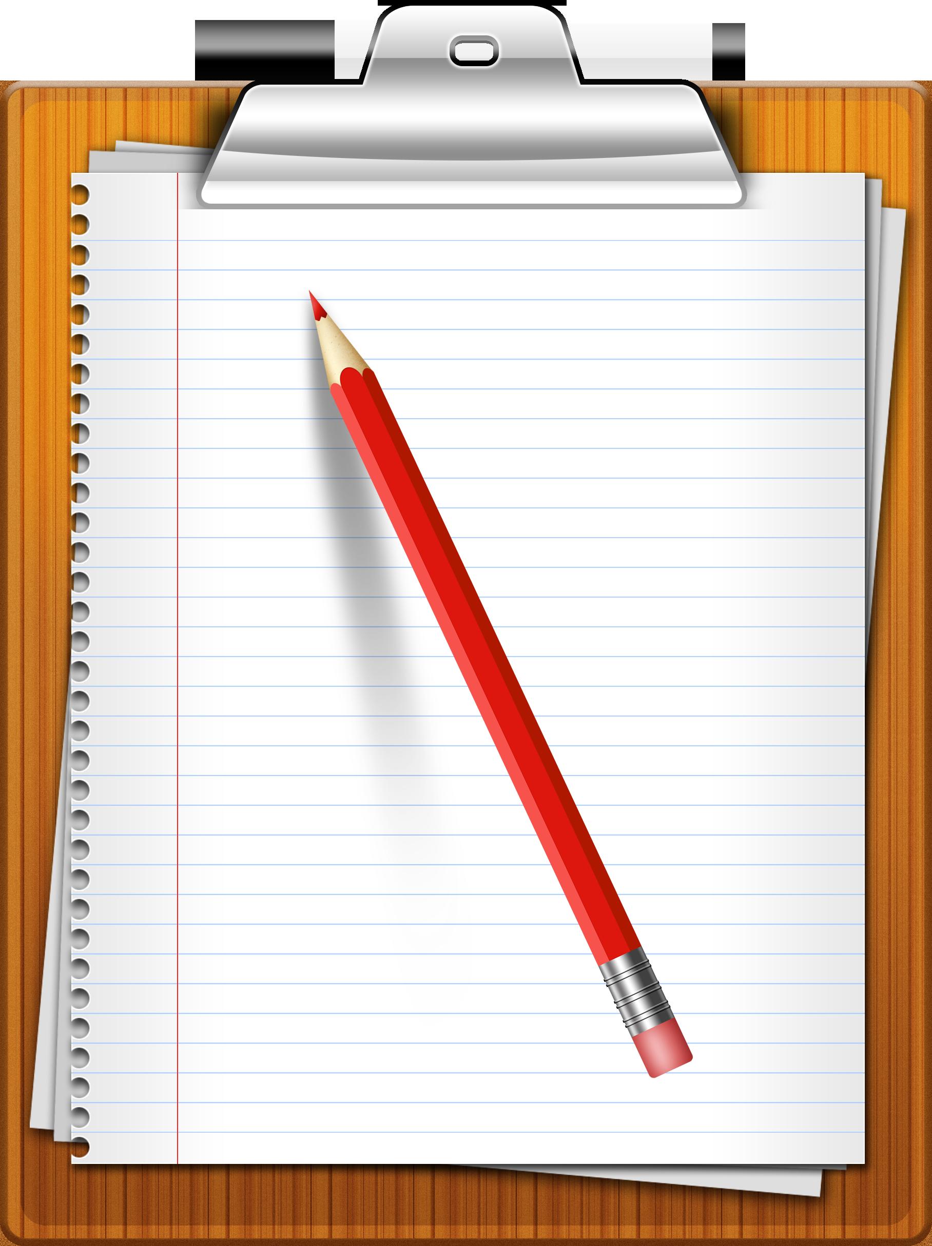 pencil, clipboard, paper icon