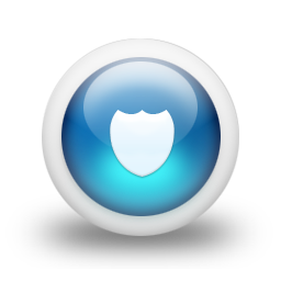 glossy, protect, blue, security, shield, guard icon