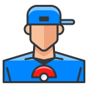 game, play, pokemon, go, boy, trainer icon