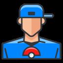 game, play, pokemon, go, boy, trainer icon