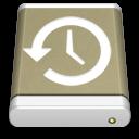 Lightbrown External Drive Backup icon