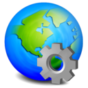 settings,earth icon
