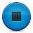 button, stop, blue icon