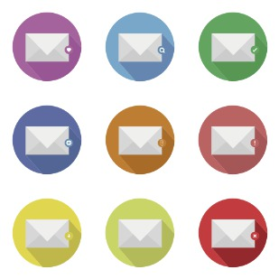 E-mail icon sets preview