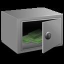 Strong box money icon