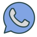shape, whatsapp, phone, circle, brand icon