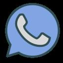 shape, whatsapp, phone, circle, brand icon