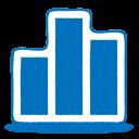 blue chart icon