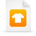 document, orange, file, paper icon