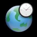clock, internet, world, earth icon