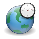 internet, clock, world, globe, earth icon