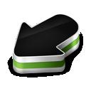 green, arrow icon