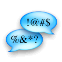 talk, chat, cursing icon
